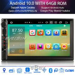 Android 10.0 Double Din Car Navi Dab + Wifi Bt Fm Tpms Tnt Carplay Octa Core