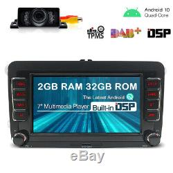 Android 10 Dsp 7 Gps Navi Radio Dab + For Vw Golf Polo Tiguan Jetta Eos T5