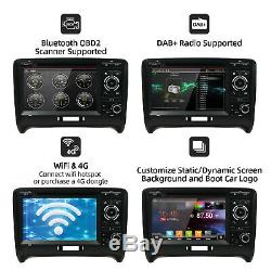 Android 2 Din Car Gps Navi For 10 Audi Tt Mk2 8j Radio Player Wifi Bt DVD