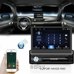 Android 6.0 7 Car Radio Single 1 Din Quad-core Navi Gps Retractable Fm + Camera