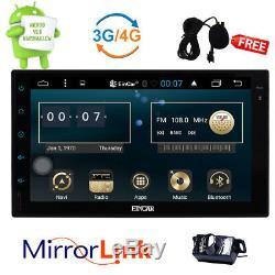 Android 6.0 7 Dual 2 Din Car No DVD Auto Radio Gps Stereo Wifi Bt Navi Camera