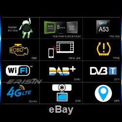 Android 8.0 Dual Din Car Gps Navi Dab + Bluetooth Wifi 4g Dvr Tnt Obd Swc