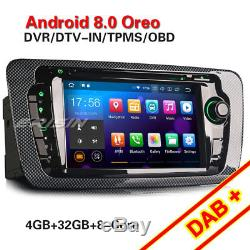 Android 8.0 Gps Car Stereo Seat Ibiza Dab + Obd Dvr Bt Dtv Cd-in Tpms 4g Navi Wifi