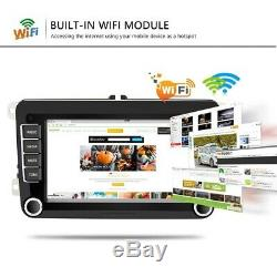 Android 8.1 7 Hotel 2 Din Car Gps Navi Wifi Bluetooth For Vw Golf Polo Passat