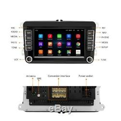 Android 8.1 7 Hotel 2 Din Car Gps Navi Wifi For Vw Golf Polo Passat May 6 Caddy