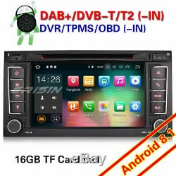 Android 8.1 Car Radio Navi For Vw Touareg Multivan T5 Wi-fi Obd 4g Tnt-in CD Dab +