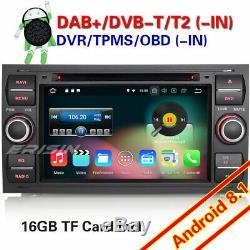 Android 8.1 Car Radio Navi Ford S / C-max Fiesta Mondeo Focus Transit Kuga Wifi 4g
