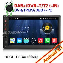Android 8.1 Dual Din Car Gps Navi Dab + Bluetooth Wifi 4g Obd Dvb Rds Dvb