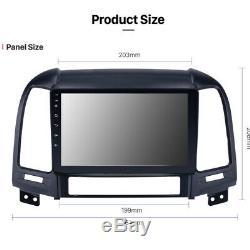 Android 8 Usb Car Touch Screen Gps Navi Bluetooth Wireless Hyundai Santa Fe