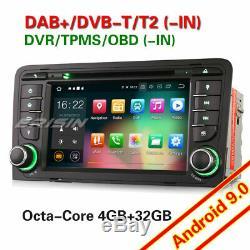 Android 9.0 Audi A3 S3 Rs3 Rnse Wi-pu Car DVD Navi Bluetooth Dab + 8-core