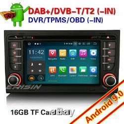 Android 9.0 Car Gps Navi CD Dab + Dtt Usb 4g Audi A4 S4 Rs4 Seat Exeo Rns-e