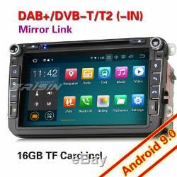 Android 9.0 Car Radio Navi DVD Dab + Gps For Passat Golf 5 Touran Jetta Skoda Ops