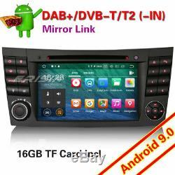 Android 9.0 Dab + 4g Car Gps DVD Mercedes E / Cls / G Class W211 W463 Navi Wifi