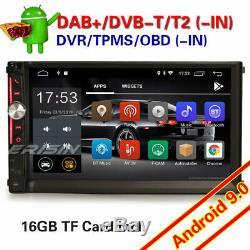 Android 9.0 Dual 2din Car Dab + Navi Wifi Obd2 Tnt Tpms Usb Bluetooth Dsp