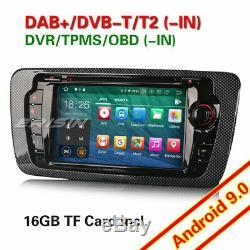 Android 9.0 Gps Navi Car Radio Seat Ibiza Dab + Obd Dvr Bt CD Dtv-in Wifi Tpms 4g