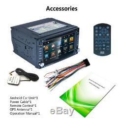 Android Wifi 2din Car Gps Navi Bluetooth Car DVD Player Am / Fm / Rds 6.2