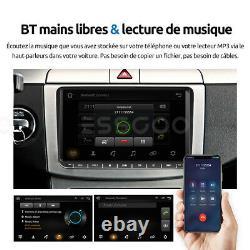 Autoradio 2 Din Android 2+32g Gps Navi Camera For Vw Golf 5 6 Touran Tiguan Eos