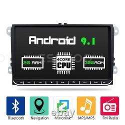 Autoradio 9 Android 9.1 2/32g Gps Navi 2din For Vw Golf 5 V Passat Tiguan Polo