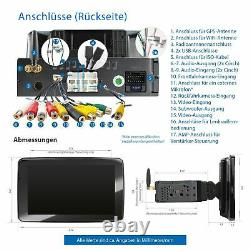 Autoradio 9 With Touch Screen Android10 2 GB Ram Navi Bluetooth Rotating