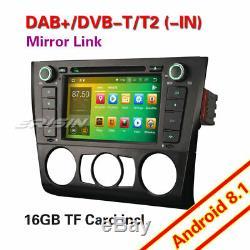 Autoradio Android 8.1 Navi Dab + 4g Bluetooth + Wifi Gps For Bmw 1 Series E81 E82 E88