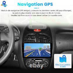 Autoradio Gps Navi 2din For Popgeot 206 2001-2008 Android 10.0 Bluetooth Usb