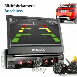 Autoradio With Gps Auto Bluetooth Mirror Sd Usb Screen Aux 7 Color 1din