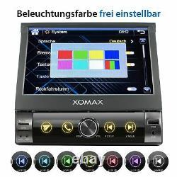 Autoradio With Gps Auto Bluetooth Screen Mirror Sd Usb Aux 7 Color 1din