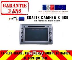 Car DVD Gps Navi Android 8.0 4gb Dab + Bt Carplay Fiat Stilo 2002-10 8807
