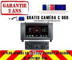 Car DVD Gps Navi Android 8.1 Dab + Bluetooth Wifi Por Peugeot 407 K5588 S