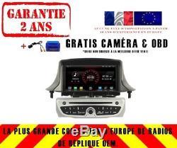 Car DVD Gps Navi Android 8.1 Dab + Renault Megane III 3 Fluence K5515 S