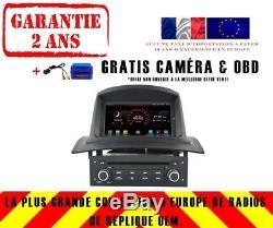 Car DVD Gps Navi Android 8.1 Dab + Renault Megane II 2 Fluence K5522