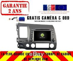 Car DVD Gps Navi Android 9.0 4gb Bt Dab + Wifi Honda CIVIC (06-11) Rv5710