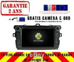 Car DVD Gps Navi Android 9.0 Dab + Toyota Corolla (07-12) Rv5749