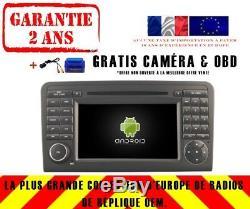 Car DVD Gps Navi Android 9.0 + Wifi Dab Mercedes ML / Gl Class Rv5558