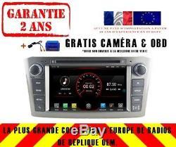 Car DVD Gps Navi Android 9.1 Dab + Carplay Toyota Avensis 2003-07 K5587s