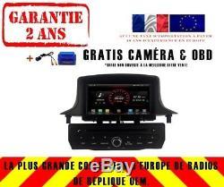 Car DVD Gps Navi Android 9.1 Dab + Renault Megane III 3 Fluence K5515 B