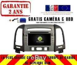 Car DVD Navi Gps Android 9.0 4gb Bt Dab + Hyundai Santa Fe / Elantra Rv7088