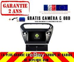 Car DVD Navi Gps Android 9.0 4gb Dab + Wifi Peugeot 301 2012 Rv5695