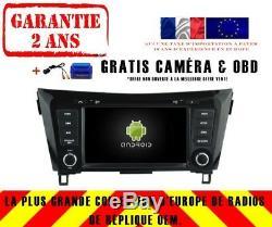 Car DVD Navi Gps Android 9.0 Dab + Nissan X-trail Qashqai 2014 Rv5537