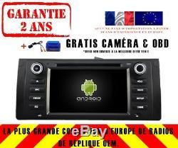 Car DVD Navi Gps Android 9.0 + Wifi Dab Bmw 5 Series E53 X5 E39 Rv5765