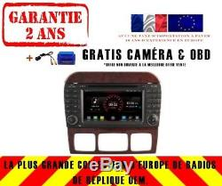 Car DVD Navi Gps Android 9.1 Dab + Mercedes Benz S-class W220 K5518