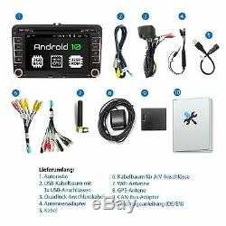 Car With Android 10 For Vw Skoda Seat Navi CD DVD Sd Usb Wlan