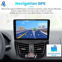 Carradio Stereo 9 Android 10.0 For Peugeot 207 2006-2015 Gps Wifi Navi Dab
