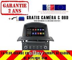 DVD Gps Navi Car Audio Android 8.1 Dab + Bt For Renault Megane II / 2 02-08 Rh5522