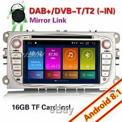 Dab + Android 8.1 Car Gps Gps Wifi Tnt DVD Ford Focus Mondeo S / C-max Galaxy Navi