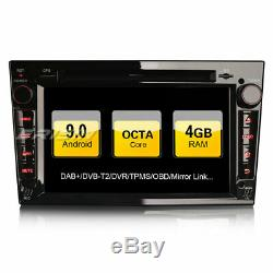 Dab + Android 9.0 Car Gps Navi Fm Vectra Opel Corsa C / D Zafira Astra Vivaro