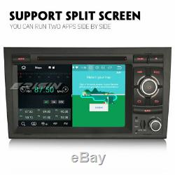 Dab + Android 9.0 Car Gps Navi Rds 4g Obd For Audi A4 S4 Rs4 Seat Exeo Rns-e