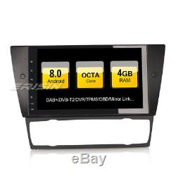 Dab + Car Radio For Bmw 3 Series E90 E91 E92 E93 Android 8.0 Navi Gps 4g Obd Bt 9