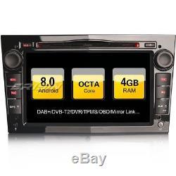Dab + Car Radio For Opel Vectra Corsa Zafira Astra Vivaro Android 8.0 Gps Navi 4g