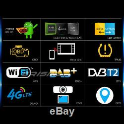 Dab + Radio Tnt Android 9.0 Double 2din Gps Wifi Obd Bluetooth Rds Navi Dvr 4g